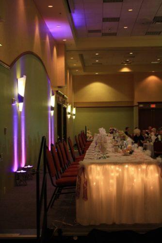 LED Head Table Uplighting