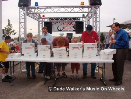Dude Walkers Music On Wheels Car Show Pics - Krispy Kreme Eating Contest