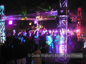 Dude Walker's Music On Wheels - College Dance Party LED Laser System