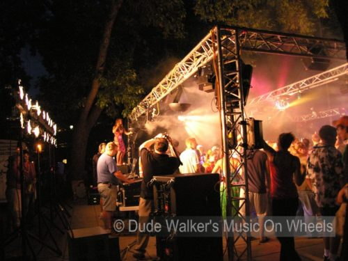 Dude Walker's Music On Wheels - College Dance Party Outdoor Orientation