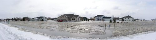 Flood 2009 | Oxbow Ice-Jams (panoramic)