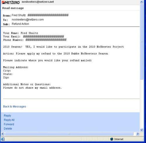 2009 Refund Requests   Dude Walker