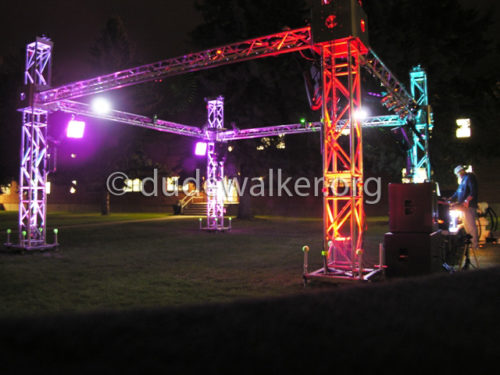 20x20 Club Party Cube with LED Uplighting