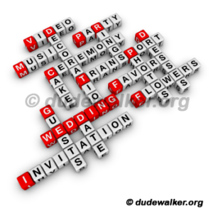 Wedding Budget Crossword